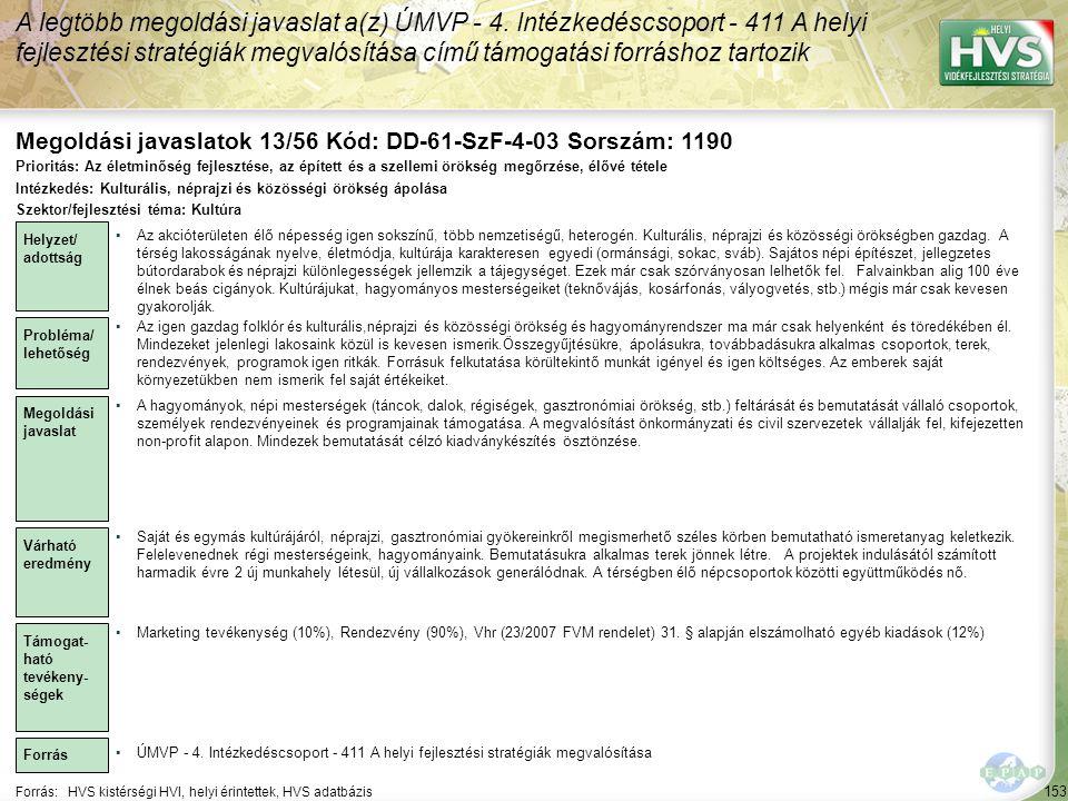 Megoldási javaslatok 13/56 Kód: DD-61-SzF-4-03 Sorszám: 1190