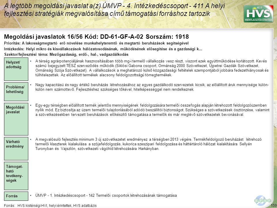 Megoldási javaslatok 16/56 Kód: DD-61-GF-A-02 Sorszám: 1918