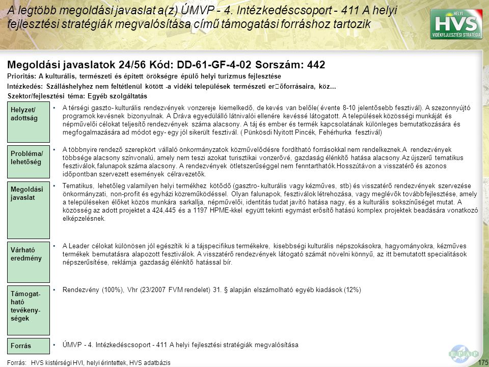Megoldási javaslatok 24/56 Kód: DD-61-GF-4-02 Sorszám: 442