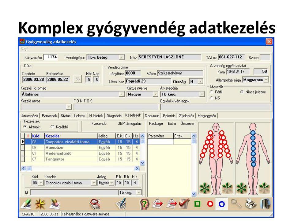 Komplex gyógyvendég adatkezelés