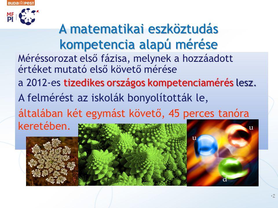 A matematikai eszköztudás kompetencia alapú mérése
