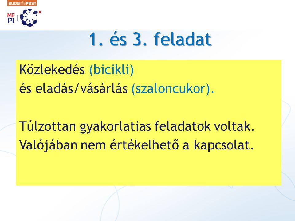 1. és 3. feladat