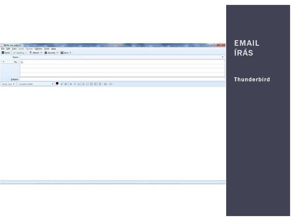 Email írás Thunderbird