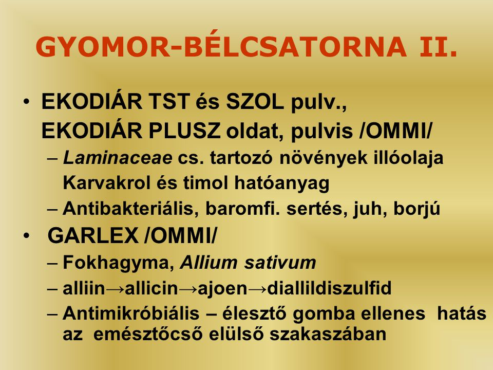 GYOMOR-BÉLCSATORNA II.