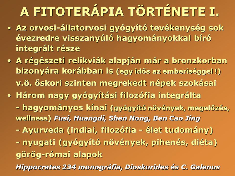 A FITOTERÁPIA TÖRTÉNETE I.