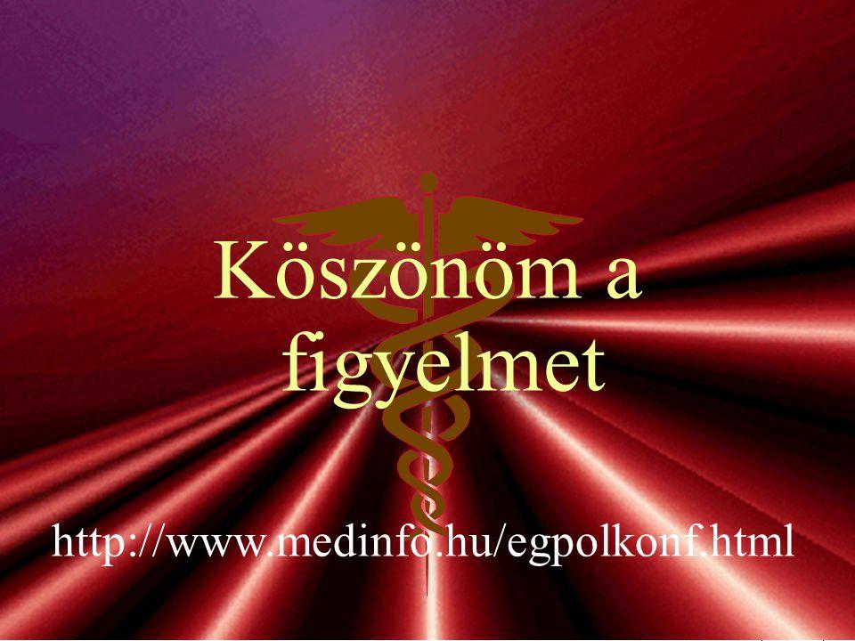 Köszönöm a figyelmet http://www.medinfo.hu/egpolkonf.html -30-