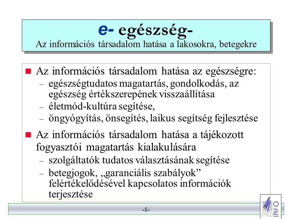 e- egészség- Az információs társadalom hatása a lakosokra, betegekre