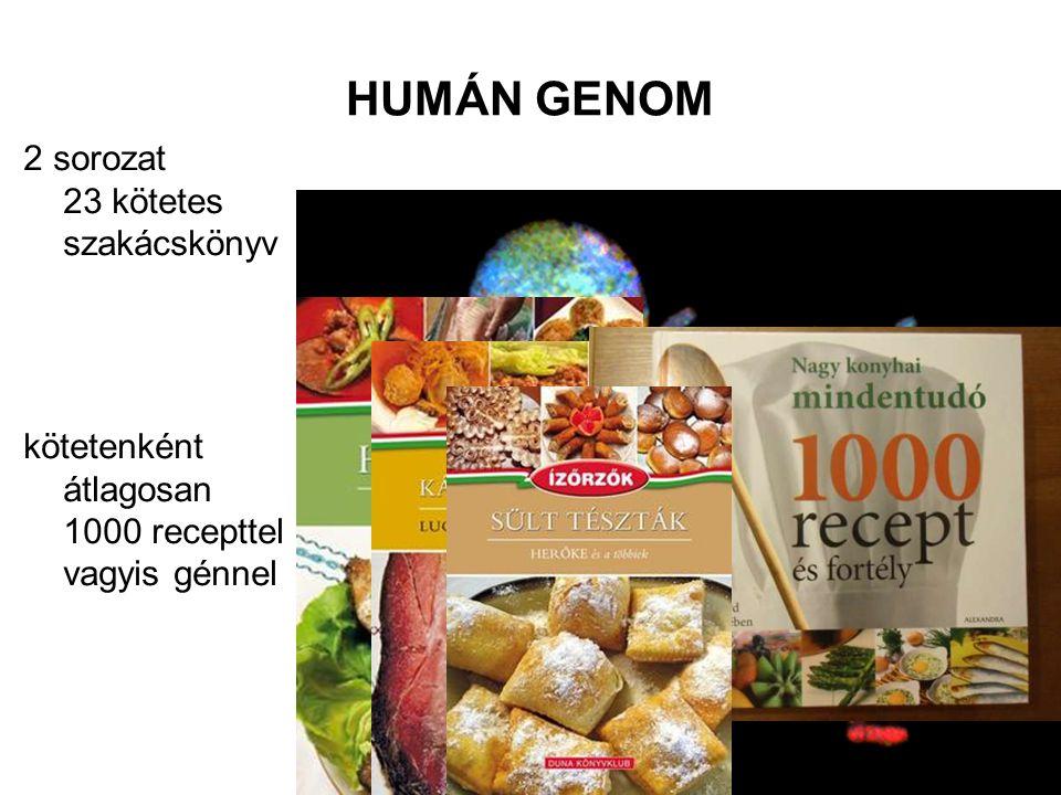 HUMÁN GENOM 2 sorozat 23 kötetes szakácskönyv