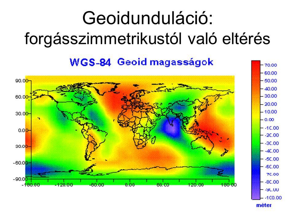 Geoidunduláció: forgásszimmetrikustól való eltérés