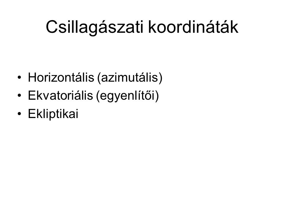 Csillagászati koordináták