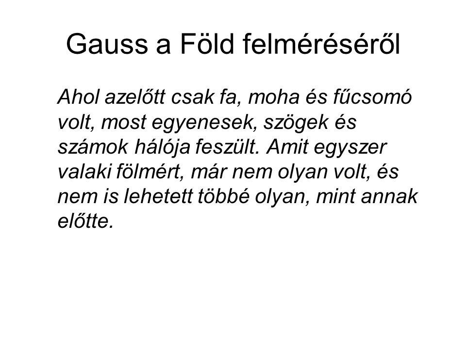 Gauss a Föld felméréséről