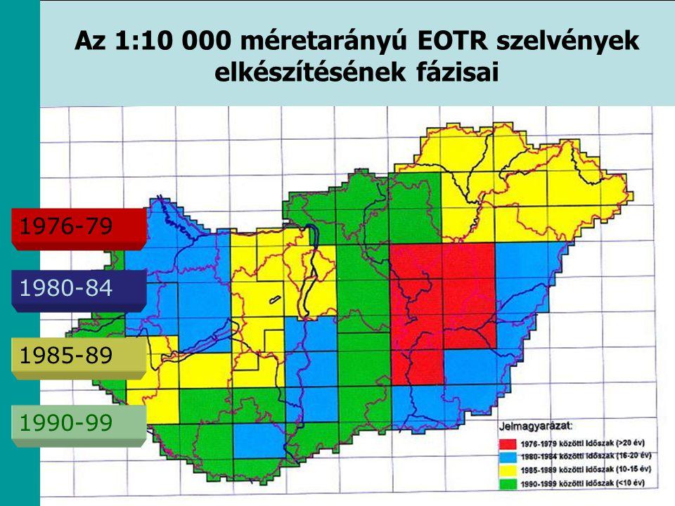 Az 1:10 000 méretarányú EOTR szelvények elkészítésének fázisai