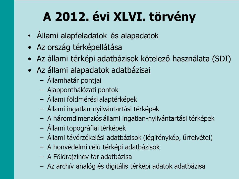 A 2012. évi XLVI. törvény Állami alapfeladatok és alapadatok