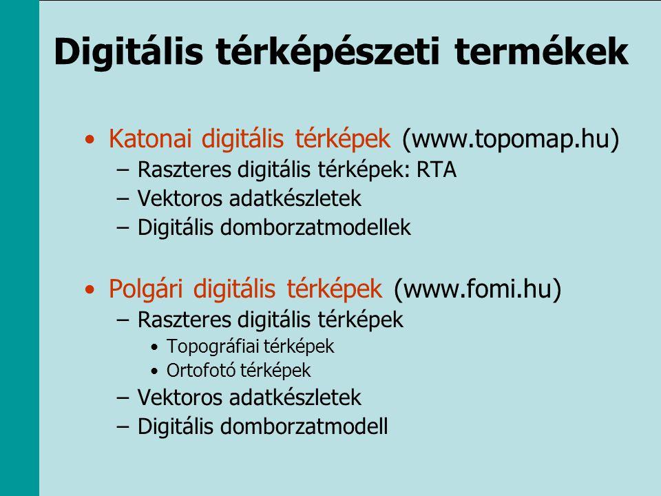 Digitális térképészeti termékek