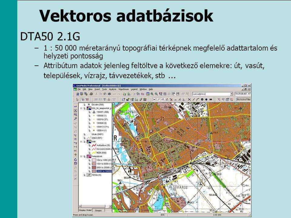 Vektoros adatbázisok DTA50 2.1G