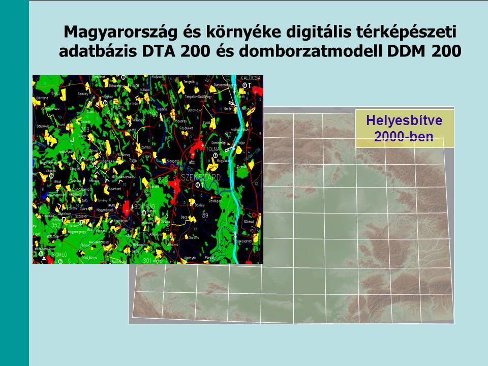 Magyarország és környéke digitális térképészeti adatbázis DTA 200 és domborzatmodell DDM 200