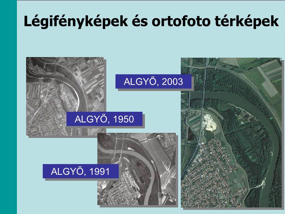 Légifényképek és ortofoto térképek