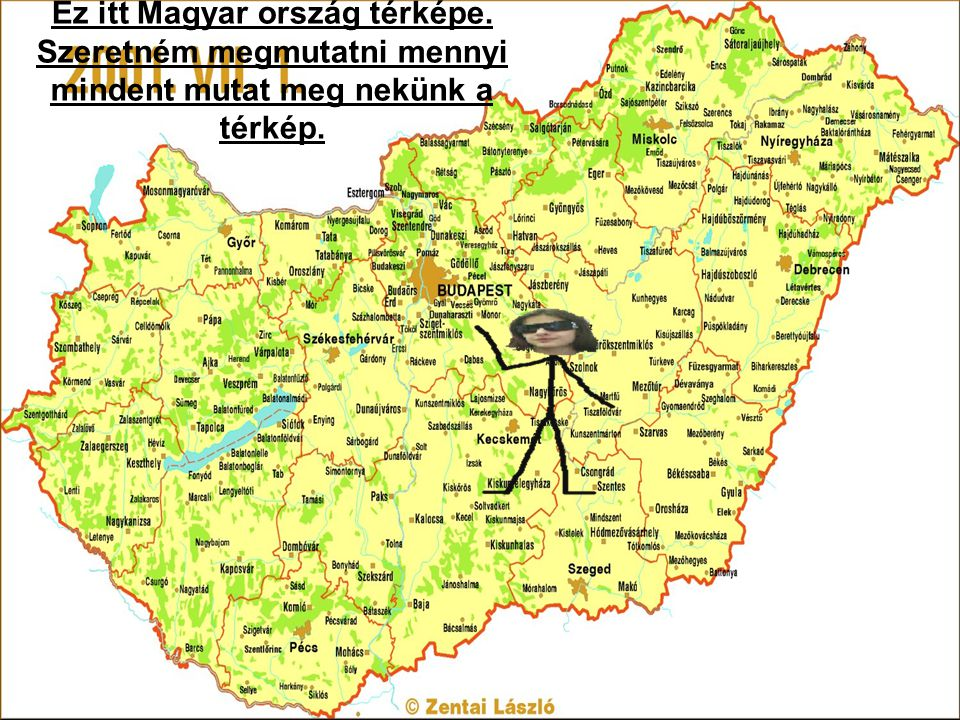 Ez itt Magyar ország térképe