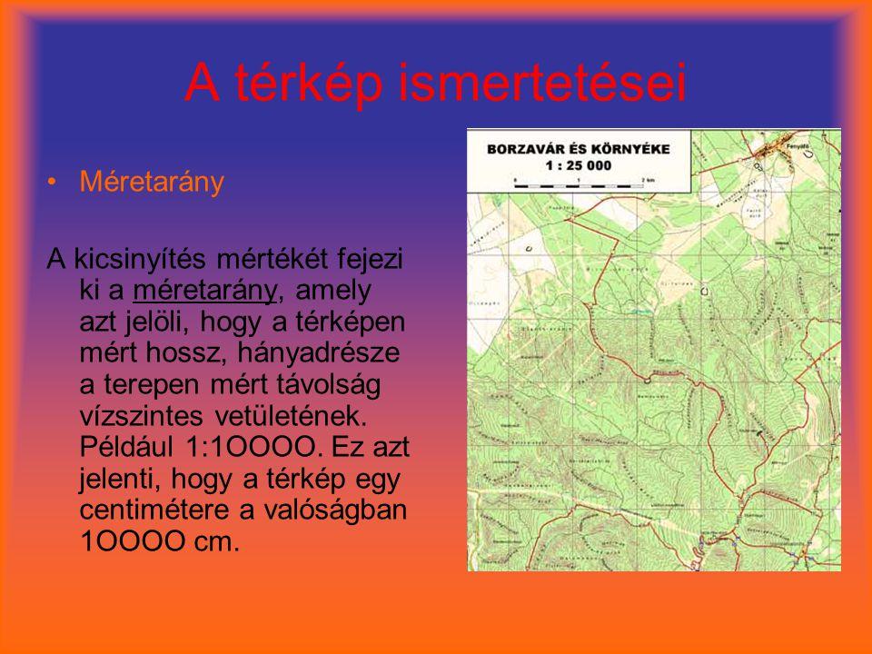 A térkép ismertetései Méretarány