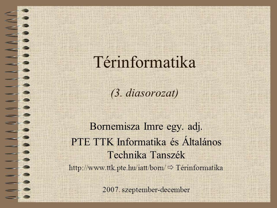 Térinformatika (3. diasorozat)