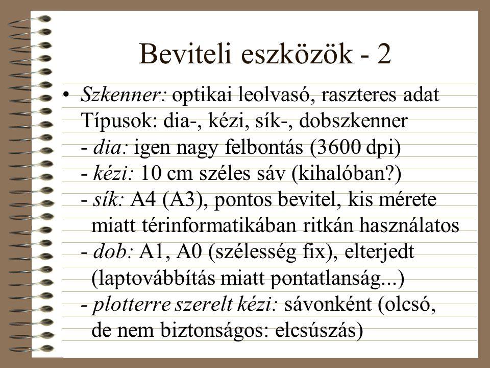 Beviteli eszközök - 2