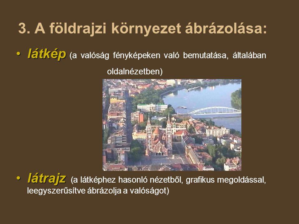 3. A földrajzi környezet ábrázolása: