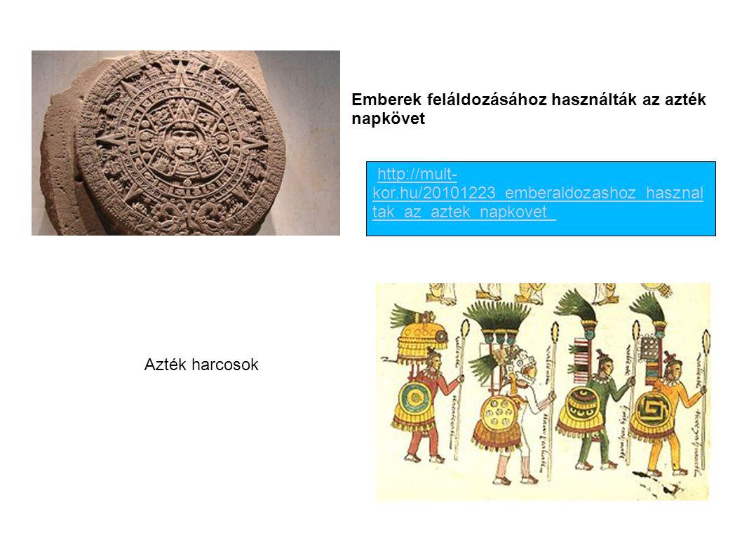 Emberek feláldozásához használták az azték napkövet