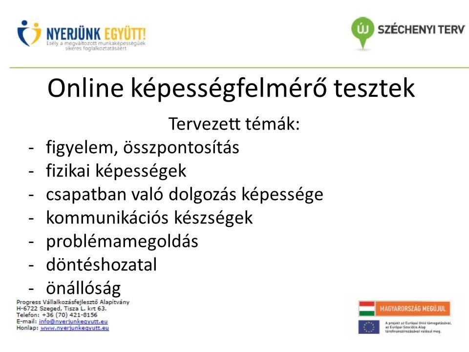 Online képességfelmérő tesztek