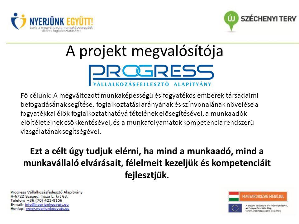 A projekt megvalósítója