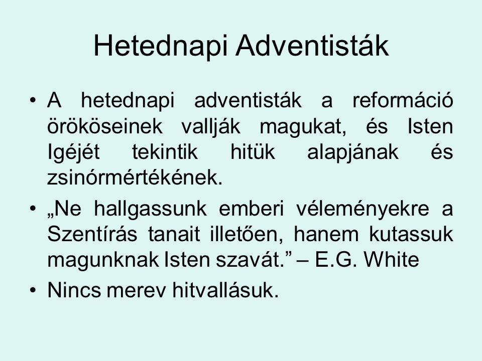 Hetednapi Adventisták