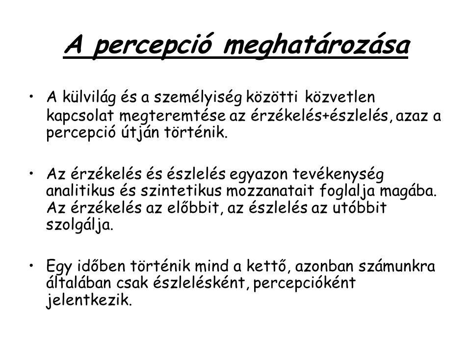 A percepció meghatározása