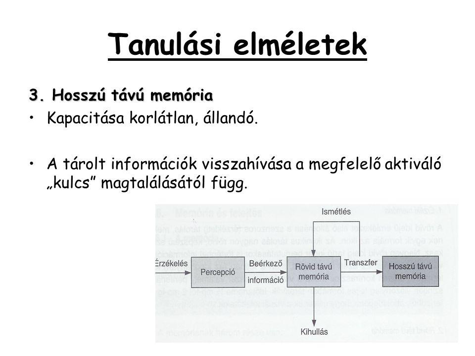 Tanulási elméletek 3. Hosszú távú memória