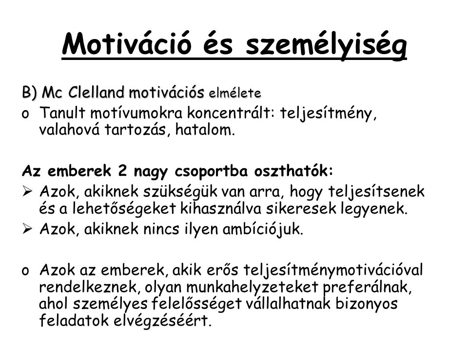 Motiváció és személyiség