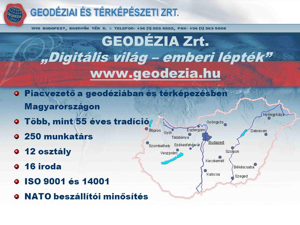 "GEODÉZIA Zrt. ""Digitális világ – emberi lépték www.geodezia.hu"