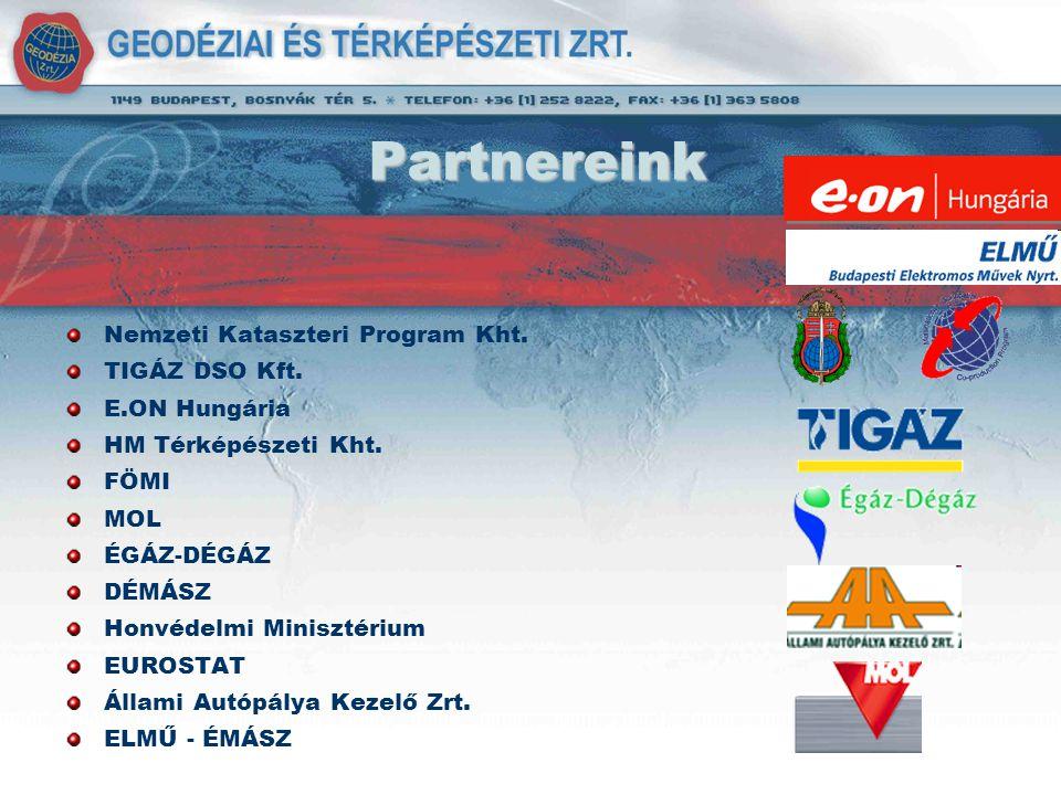 Partnereink Nemzeti Kataszteri Program Kht. TIGÁZ DSO Kft.