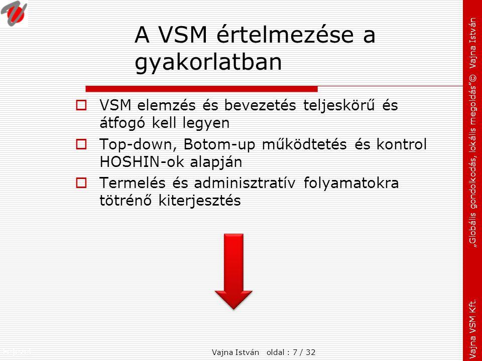 A VSM értelmezése a gyakorlatban