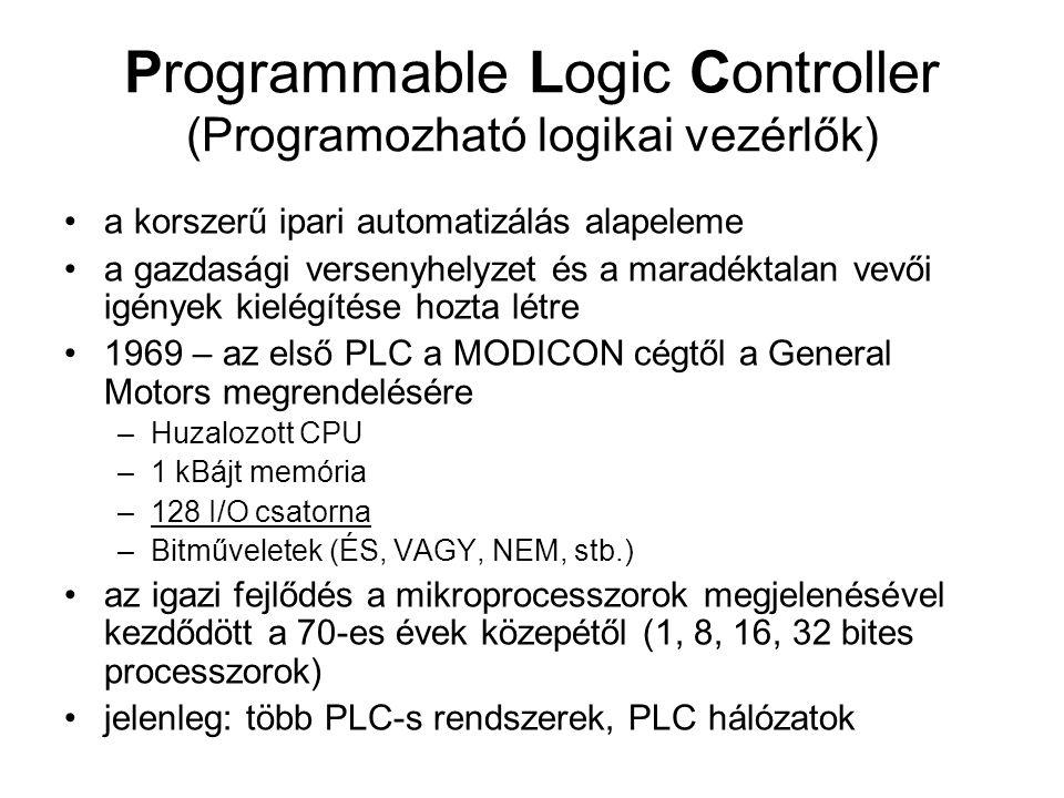Programmable Logic Controller (Programozható logikai vezérlők)
