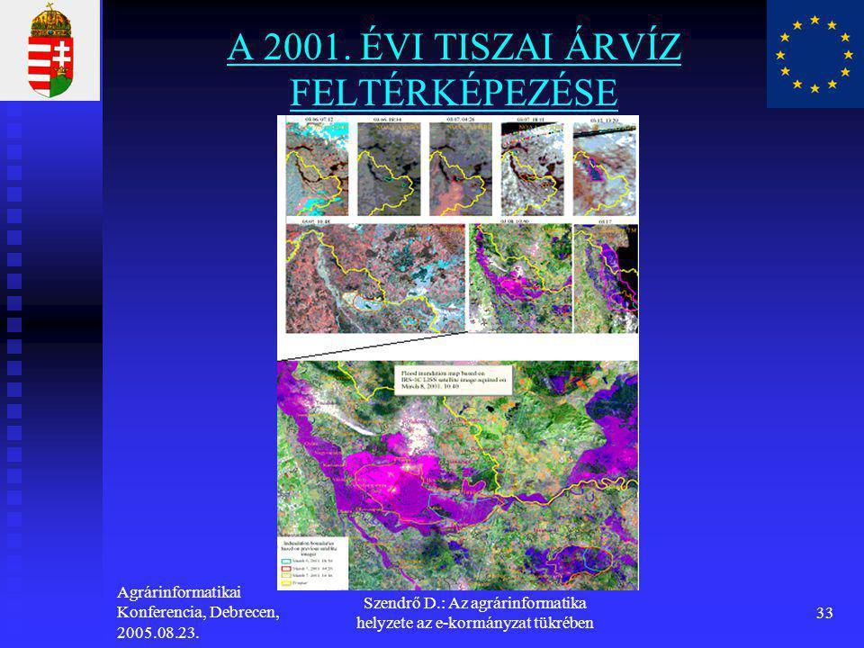 A 2001. ÉVI TISZAI ÁRVÍZ FELTÉRKÉPEZÉSE