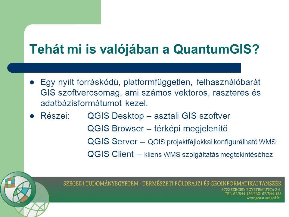 Tehát mi is valójában a QuantumGIS