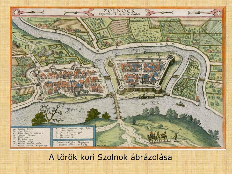 A török kori Szolnok ábrázolása