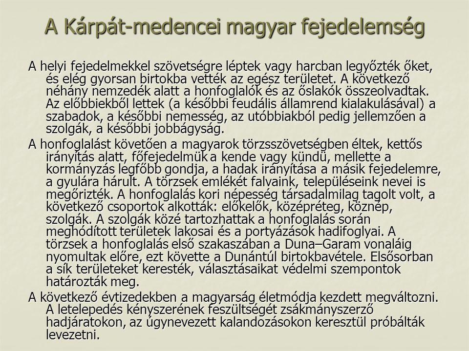 A Kárpát-medencei magyar fejedelemség