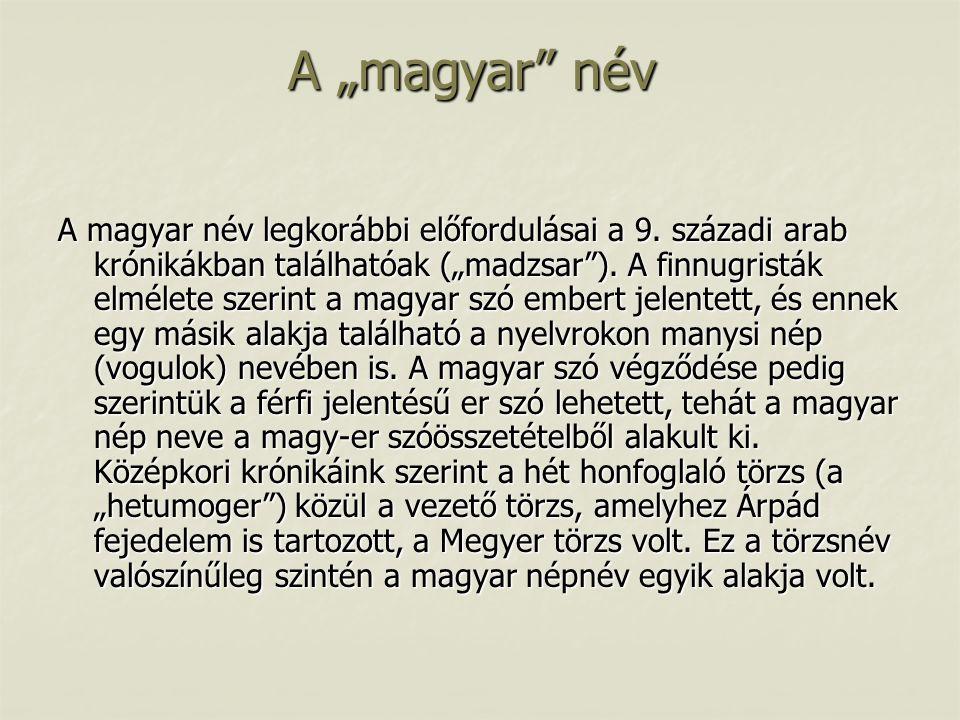 "A ""magyar név"