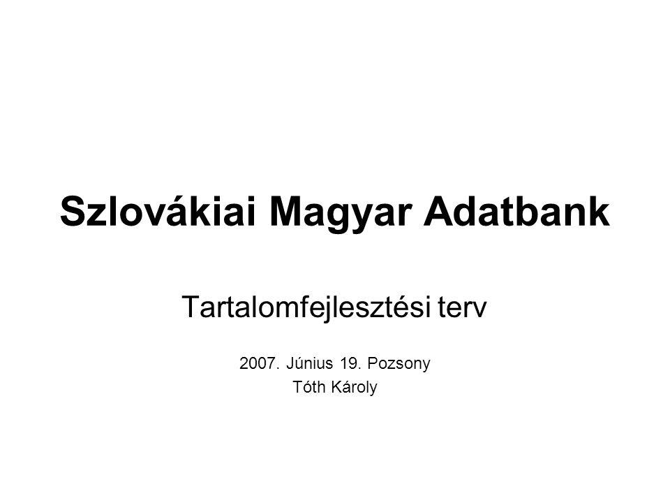Szlovákiai Magyar Adatbank