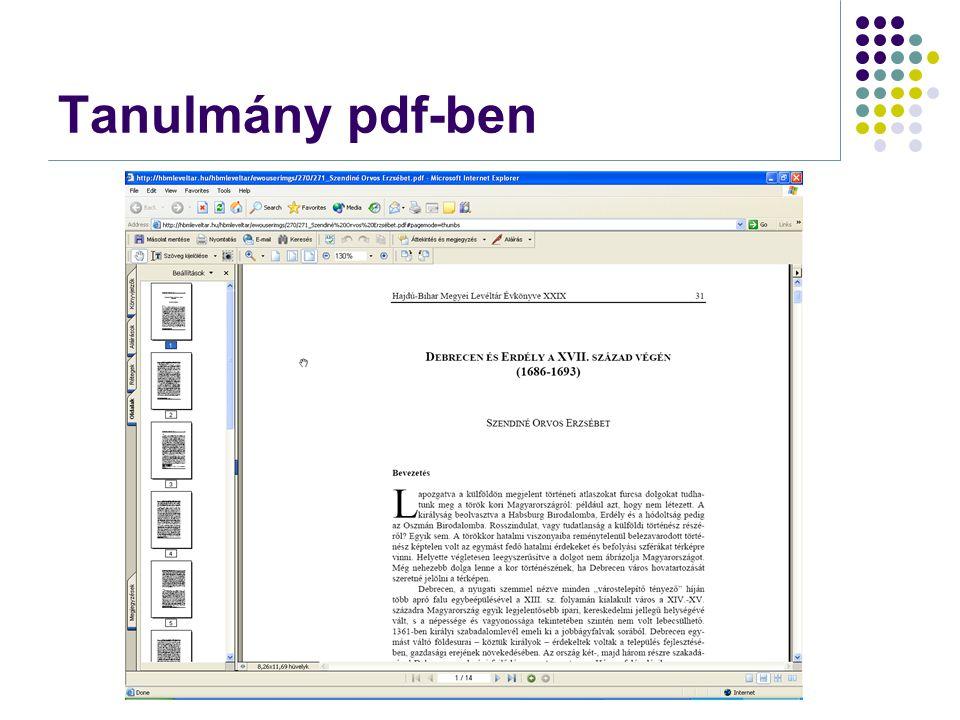 Tanulmány pdf-ben