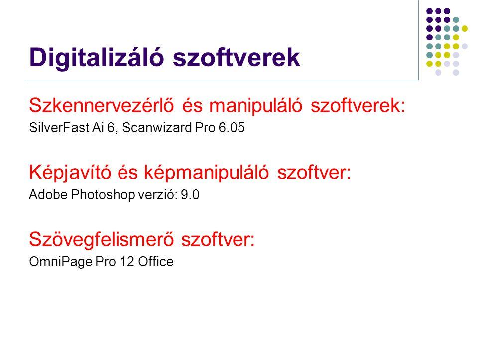 Digitalizáló szoftverek