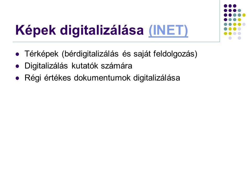Képek digitalizálása (INET)