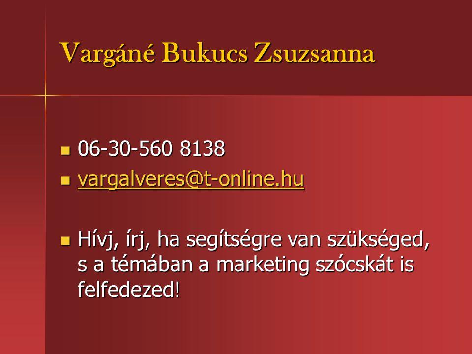 Vargáné Bukucs Zsuzsanna