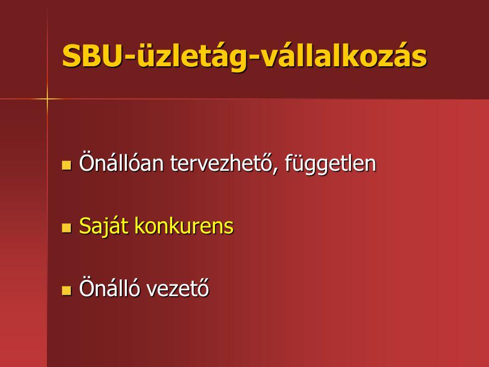 SBU-üzletág-vállalkozás