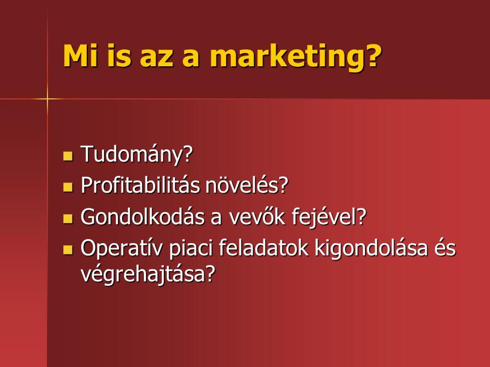 Mi is az a marketing Tudomány Profitabilitás növelés