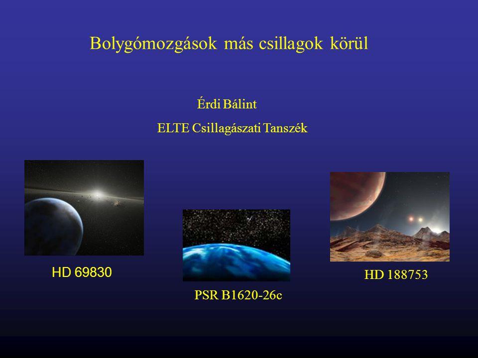 Bolygómozgások más csillagok körül